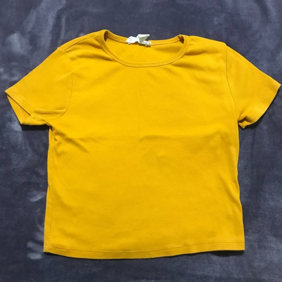 4411200d003fc2 Forever 21 Tops | Mustard Yellow Crop Top | Poshmark